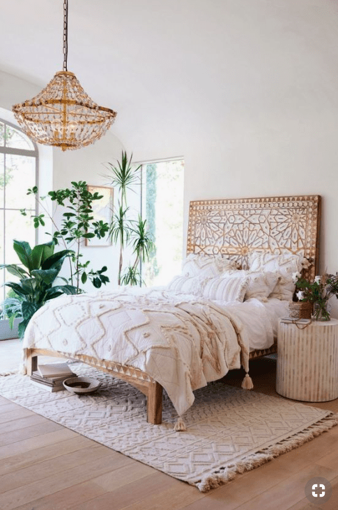 Boho Master Bedroom Accent Wall