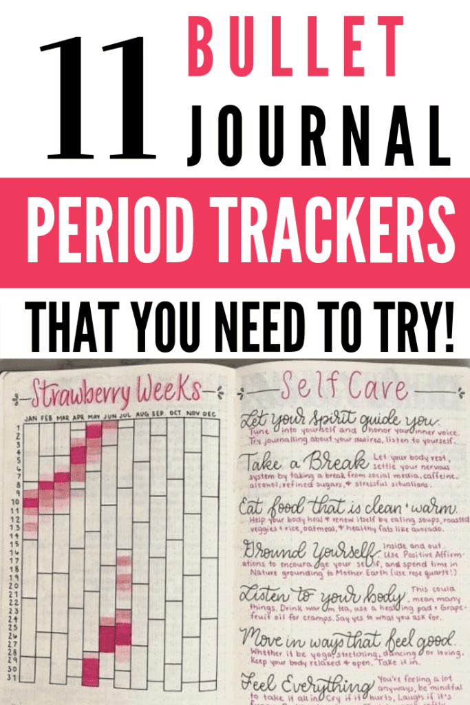 11 Bullet Journal Period Trackers! Pinterest Pin