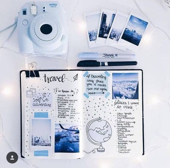 polaroid pictures for bullet journal supplies