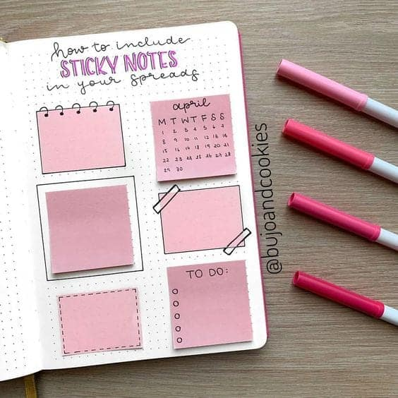 Bullet Journal Hack Use Post it Notes