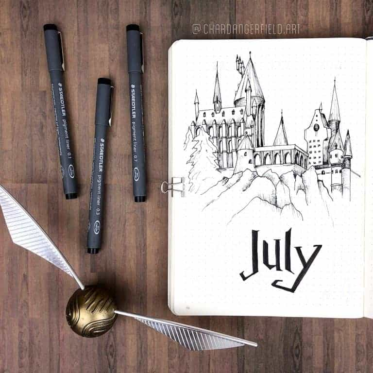 July Cover Page for Harry Potter Journal