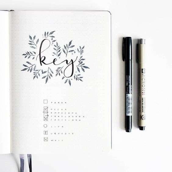 Simple Bullet Journal Key in a bullet journal