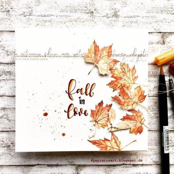 Fall In Love Bullet Journal Cover Page