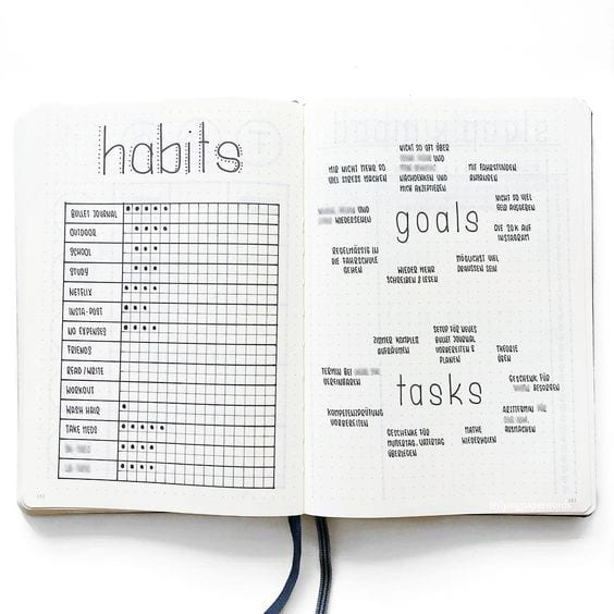 habit tracker for bullet journal