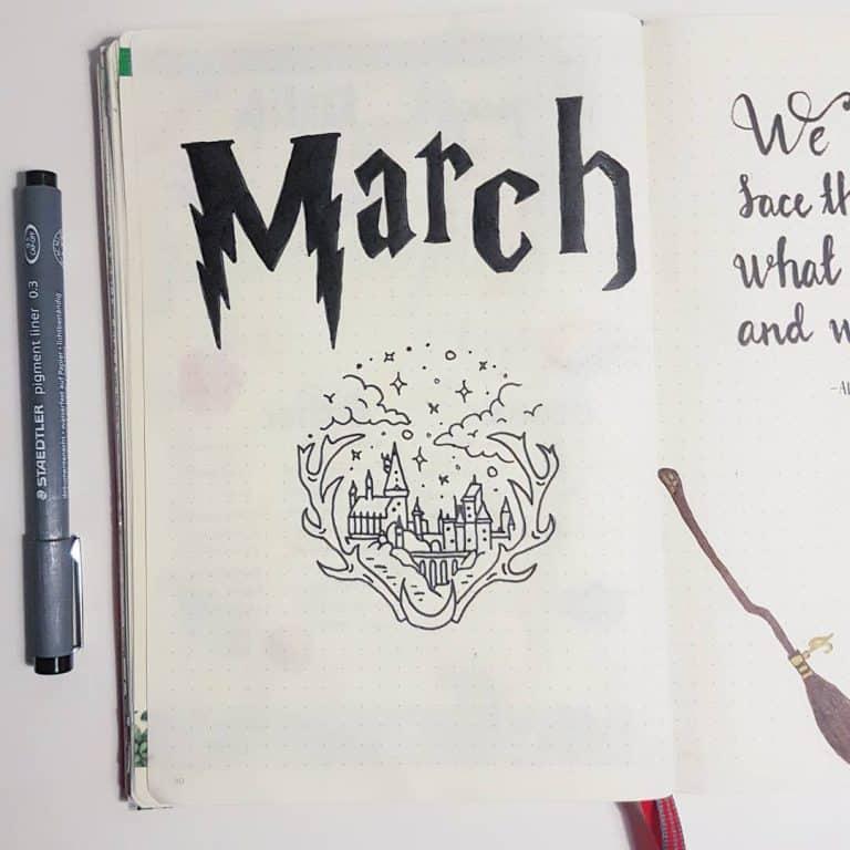 Birbirinden Güzel Harry Potter Noktalı Defter(Bullet Journal) Çizim Örnekleri