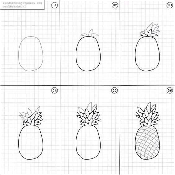 Pineapple bullet journal doodle tutorial