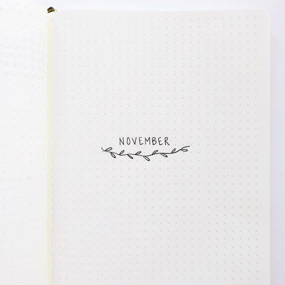 super simple monthly cover idea for your bujo