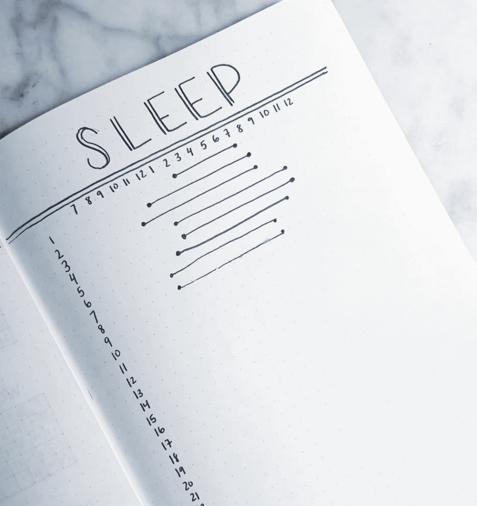 minimalist sleep tracker bullet journal