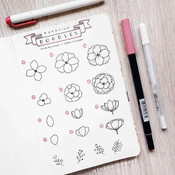 Flower doodle bullet journal