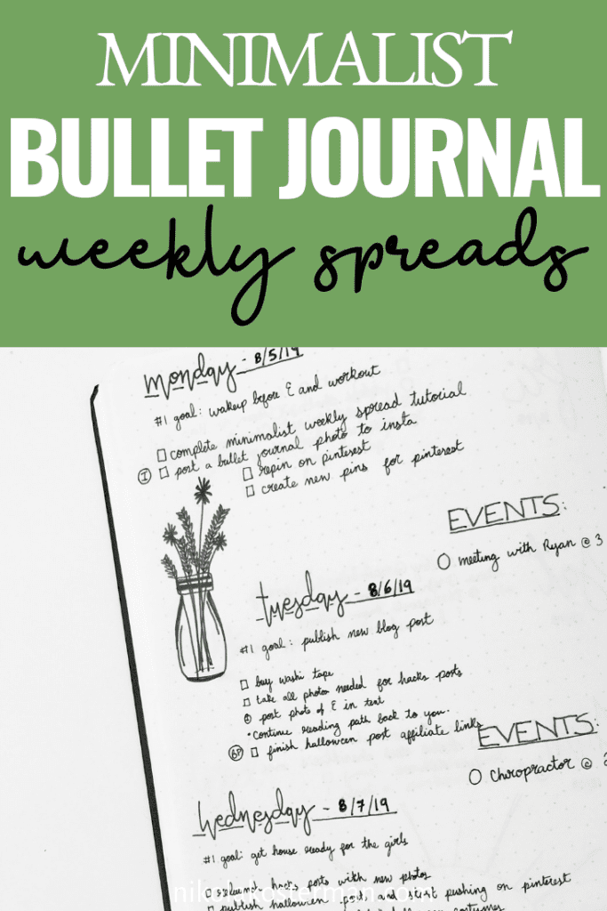 Weekly Minimalist Bullet Journal Spreads That You Need To