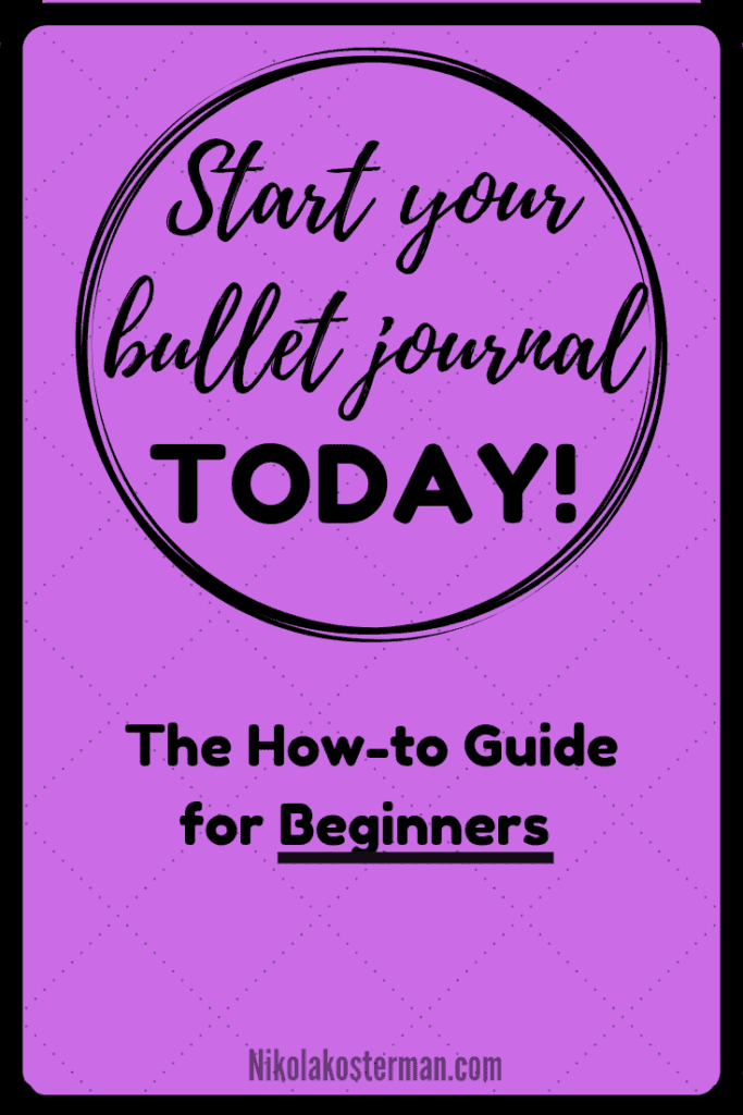 How to start your Bullet Journal today