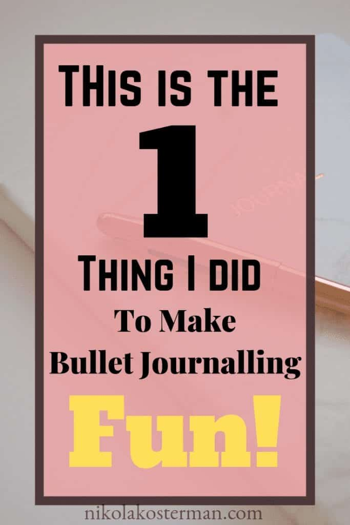 This is the 1 thing I did to make bullet journaling fun!