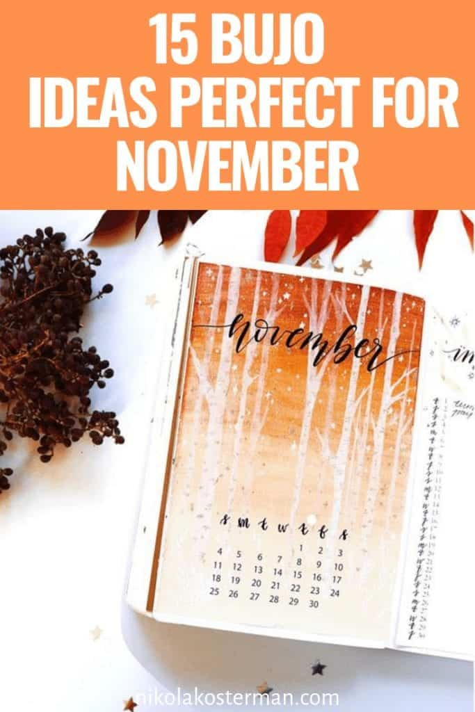 15 Bujo Ideas Perfect For November