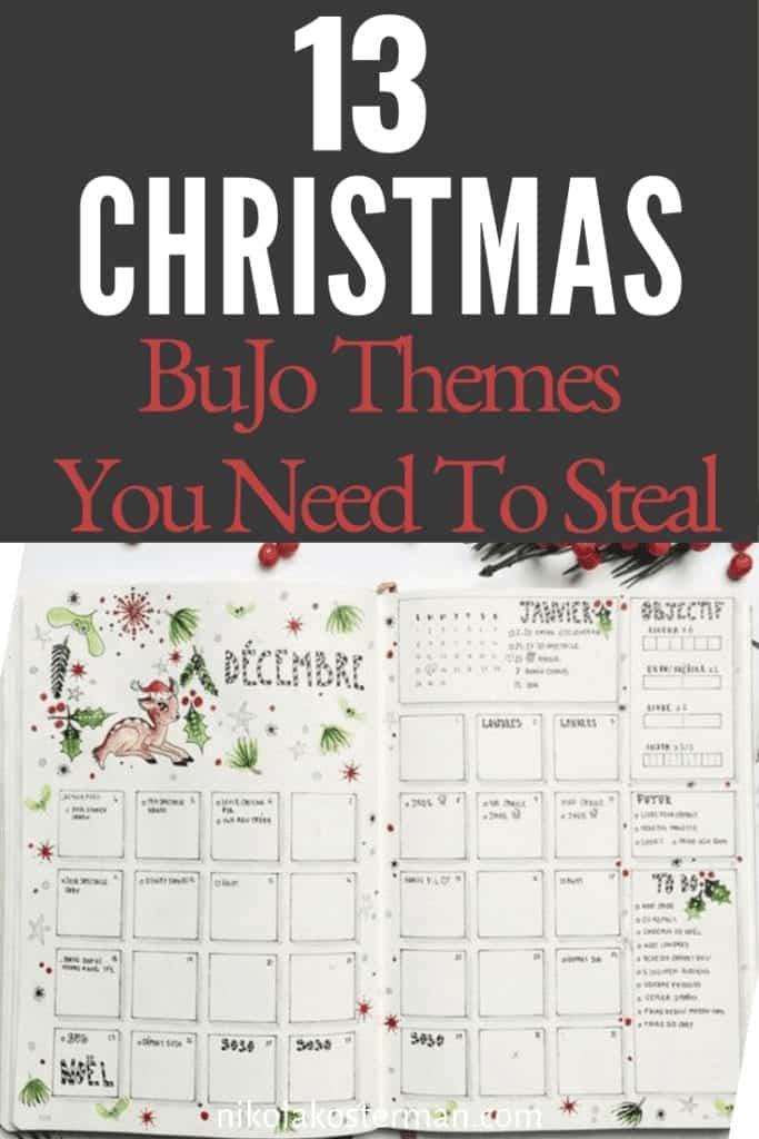 13 Christmas Bujo Themes you need to steal