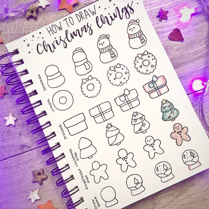 How to draw Christmas doodles!