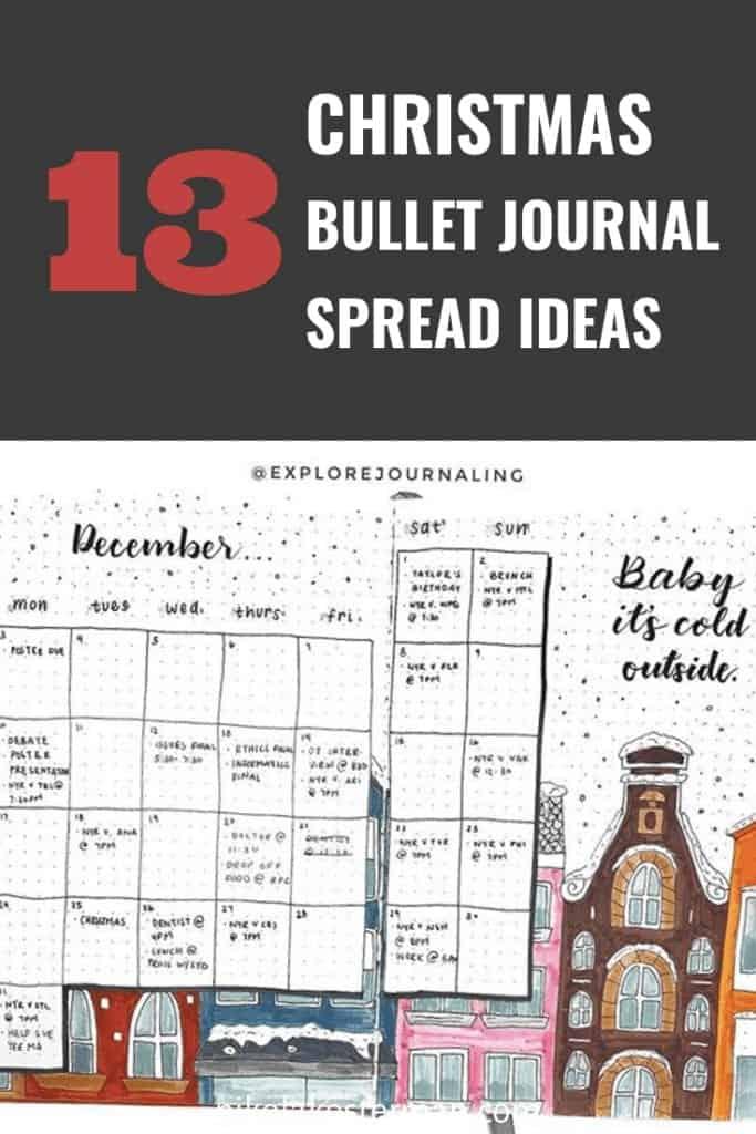 13 Christmas Bullet Journal Spread Ideas