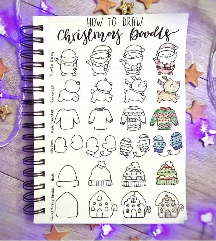 How to draw Christmas Doodles