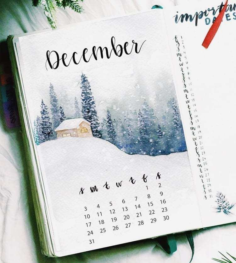 December Cover Page with calander