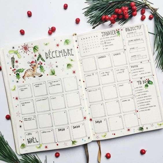 December Monthly Bullet Journal Spread