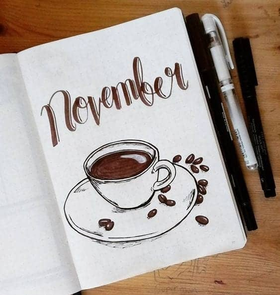 November Cover Page Coffee Cup