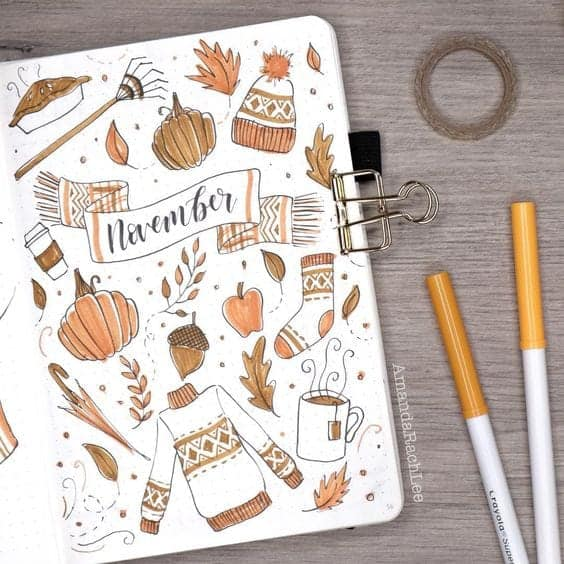 November Cover Page Pumpkin Patch
