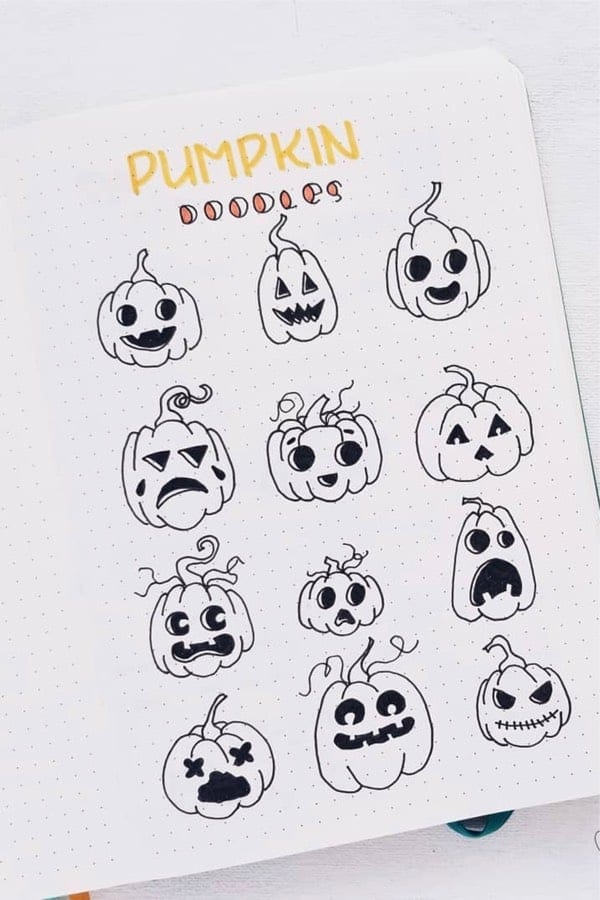 12 Jack O Lantern Pumpkin Ideas for Halloween Bujo