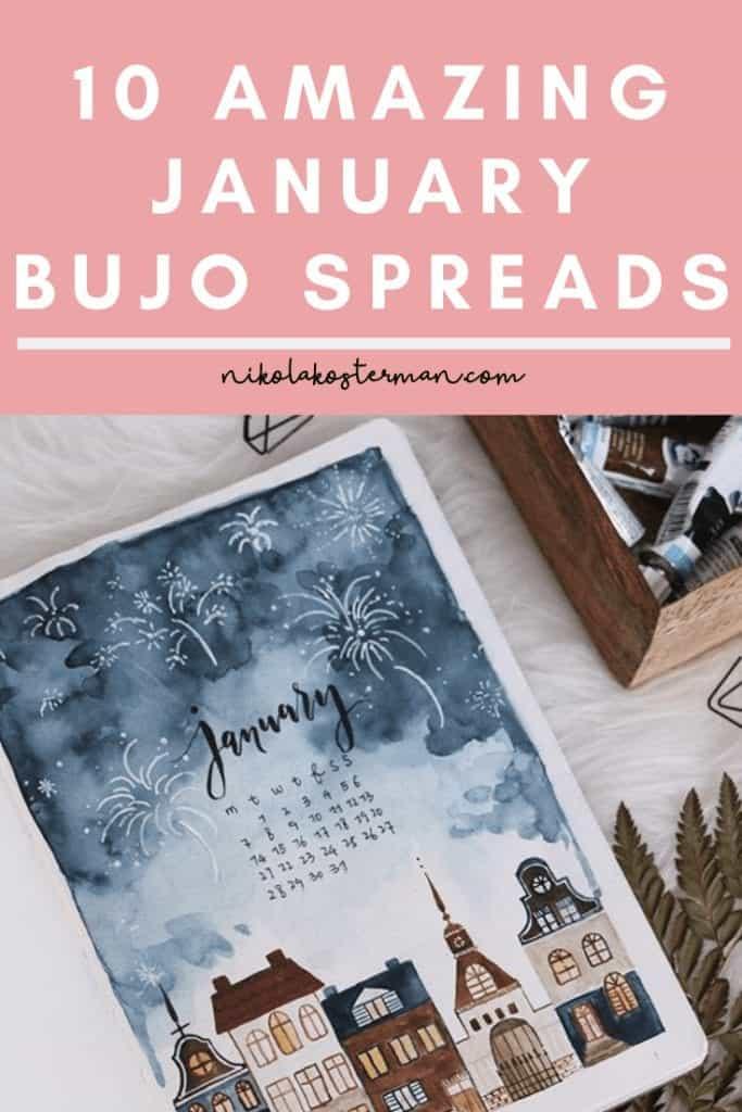 10 Amazing January Bujo Spreads