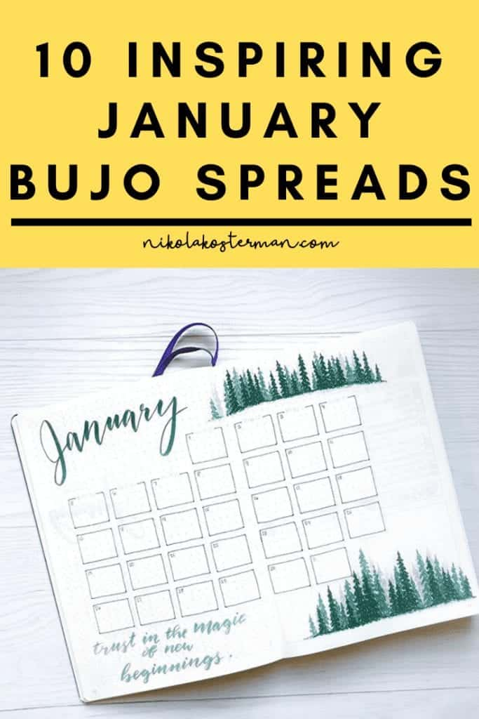 10 Inspiring January Bujo Spreads