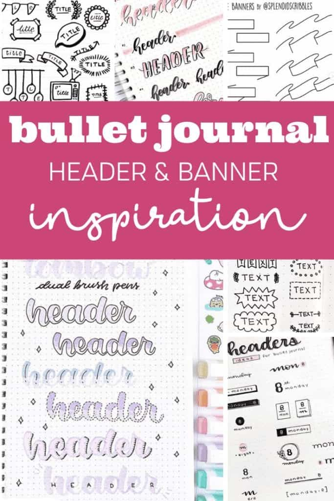 Bullet Journal Headers and Banners for Pinterest