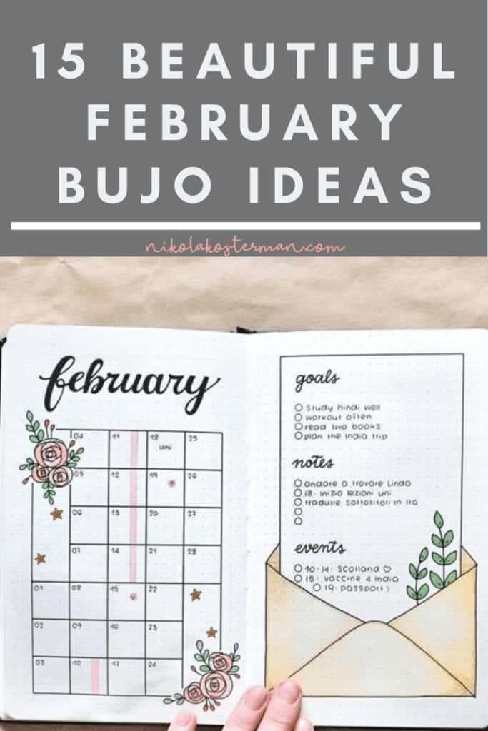 15 Love February Bullet Journal Ideas