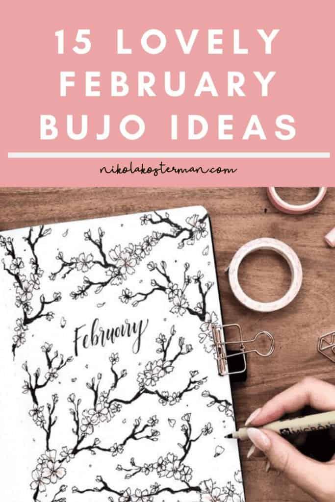 15 Lovely February Bullet Journal Ideas