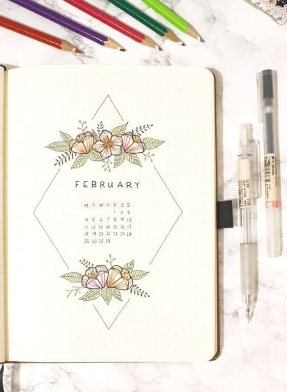 February Monthly Spread