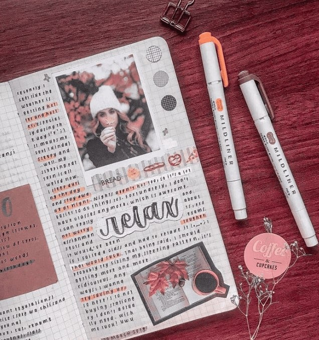 memories tracker bullet journal hack