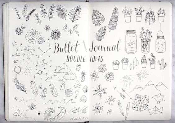 Bullet Journal Doodle Page