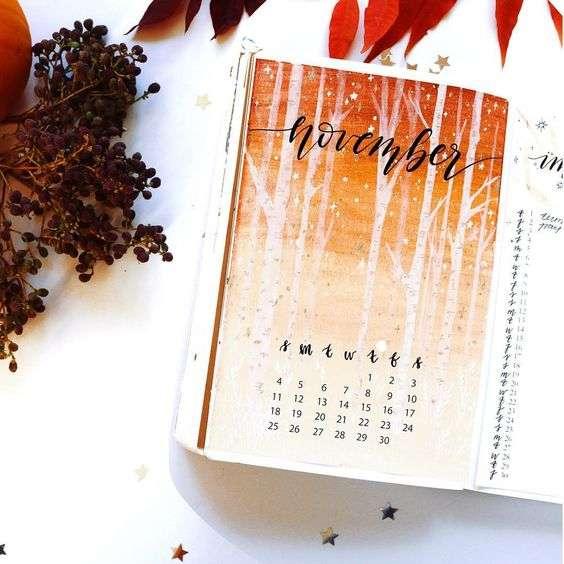 November Monthly Spread