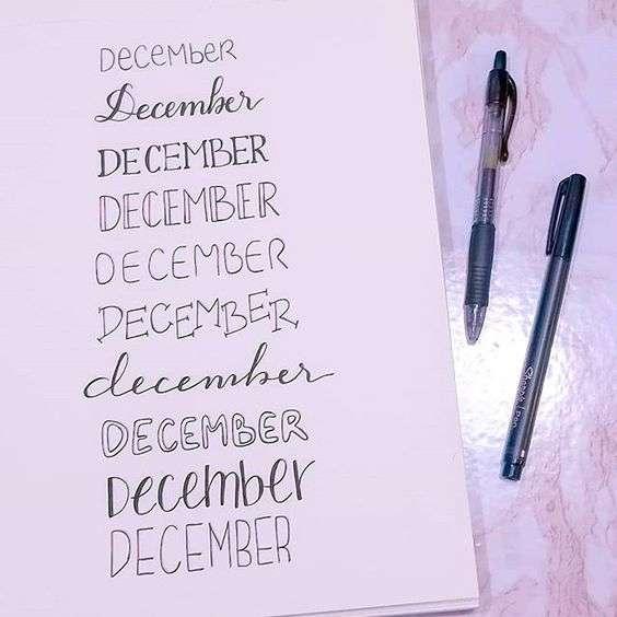 December Bullet Journal title Ideas