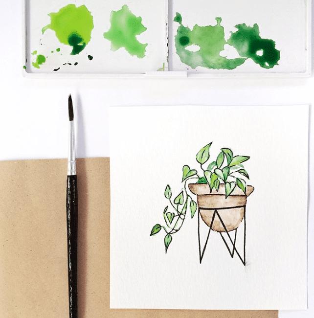 simple plant doodle