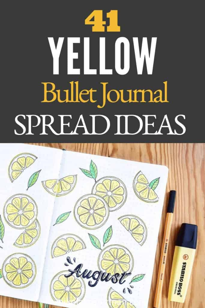 41+ Yellow Bullet Journal Spread Ideas