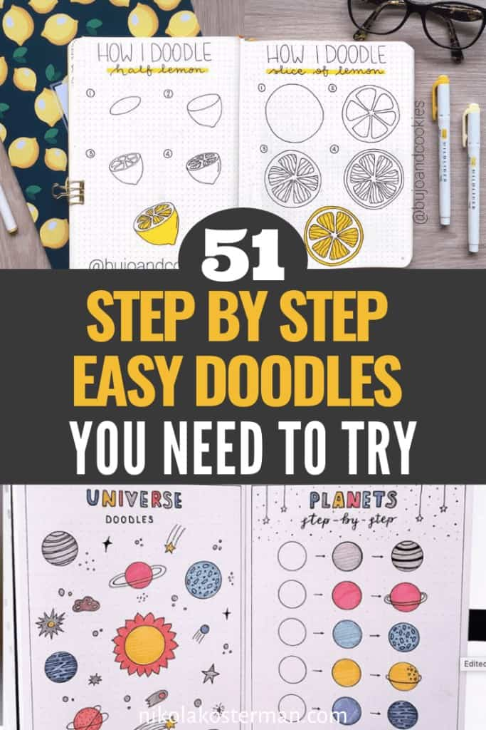 51 Step by Step Easy Bullet Journal Doodles