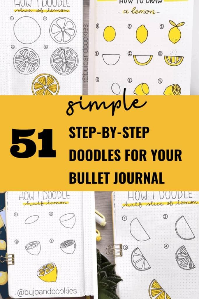 51 Simple Step by Step Bullet Journal Doodles