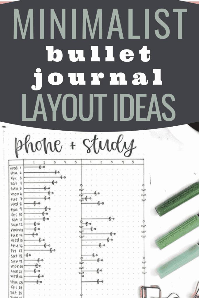 Minimalist Bullet Journal Layout Ideas