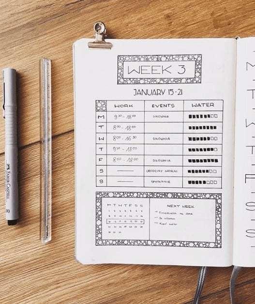 Week 3 Weekly Bullet Journal Spread