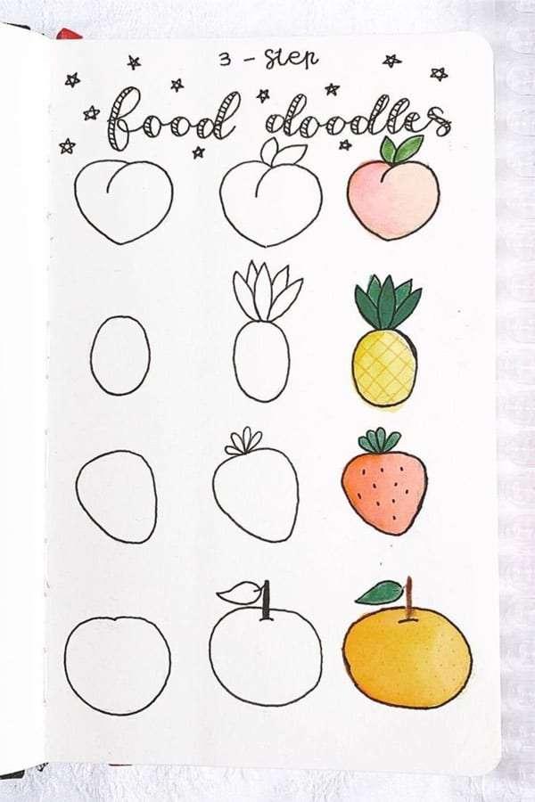 Easy Bullet Journal Doodles how tos