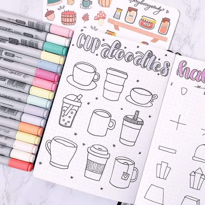 Bullet Journal Easy Doodles