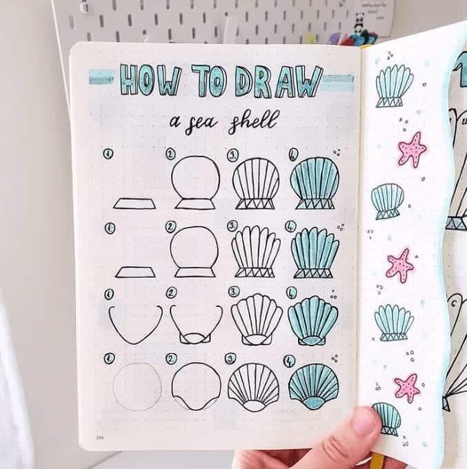 simple seashell doodle
