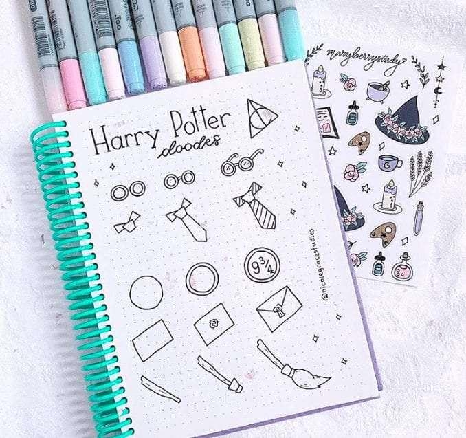 Harry Potter Bullet Journal Doodle inspiration