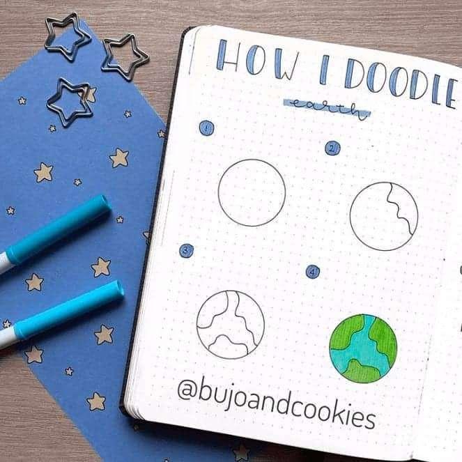 space doodles bullet journal