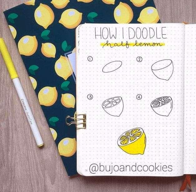 Easy Lemon Bullet Journal Doodle