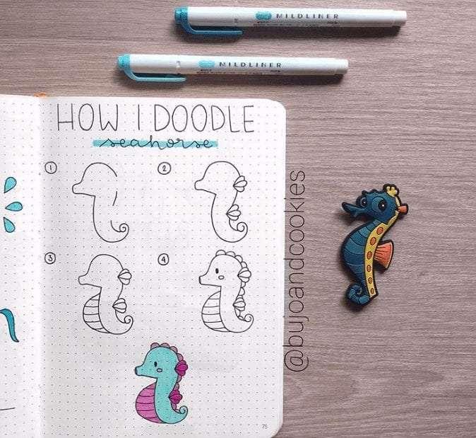 ocean themed doodles