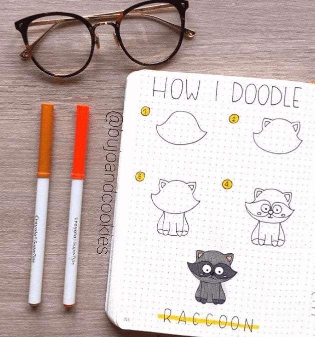 easy bullet journal doodles animals